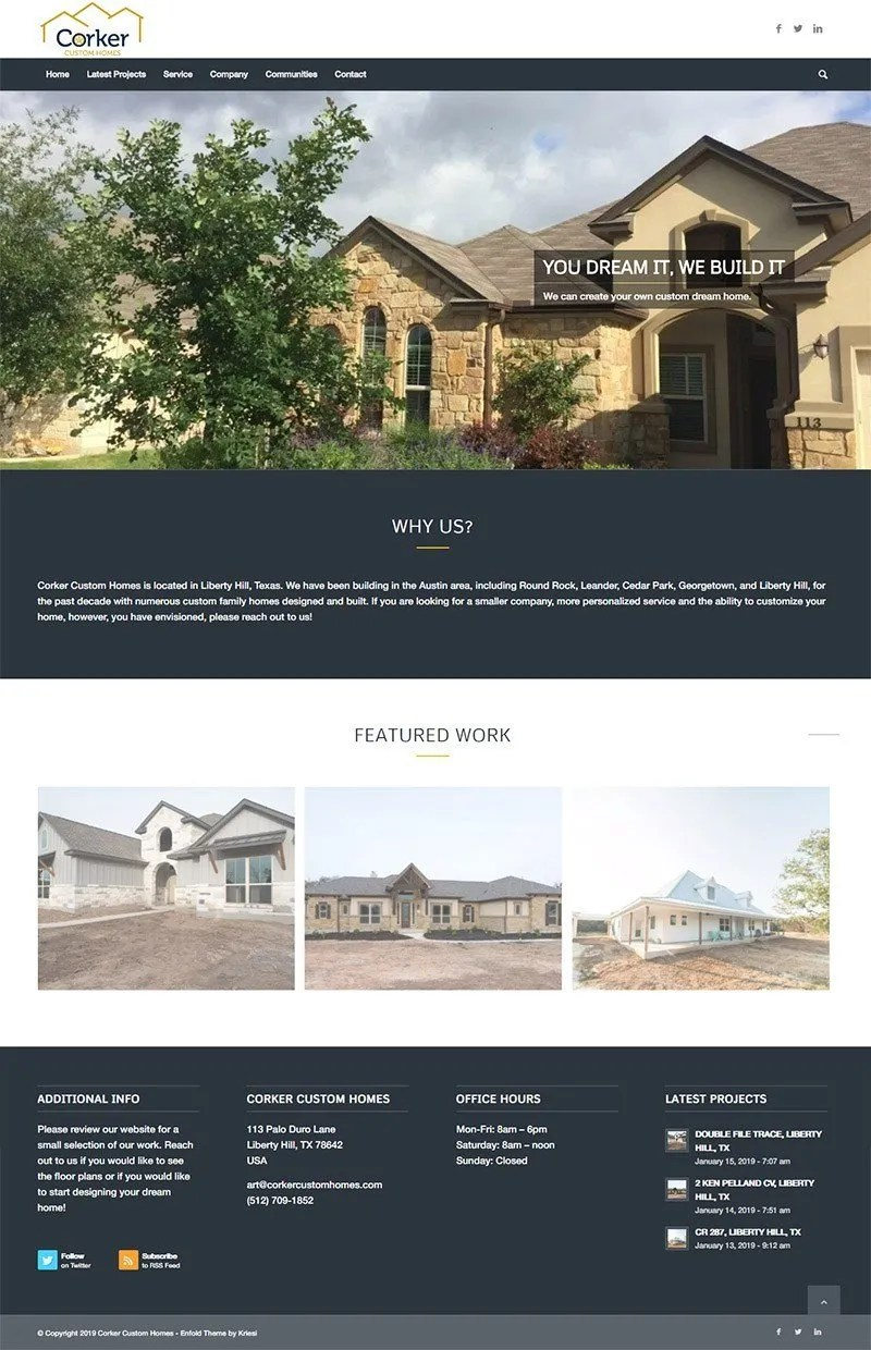 corker custom homes