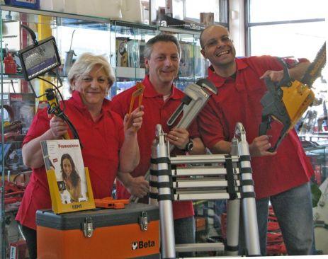 Luber snc: lo staff composto da Luisa, Flavio e Mario