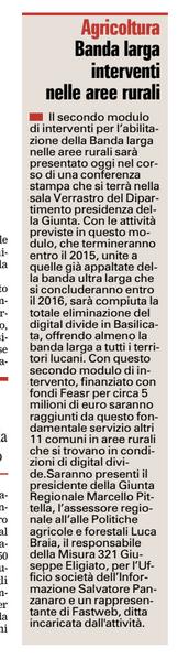 BANDA LARGA Gazzetta 12 08 2015