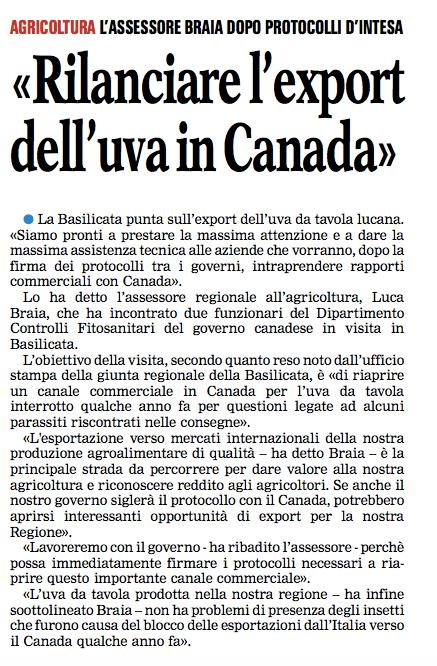 CANADA gazzetta 14 10 2015