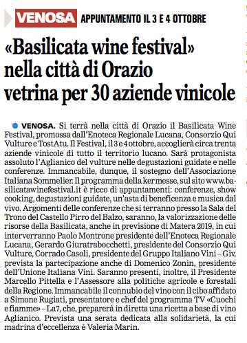 VENOSA GAZZETTA 2409 2015