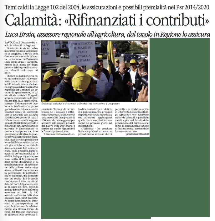 CALAMITA' quotidiano 24 11 2015