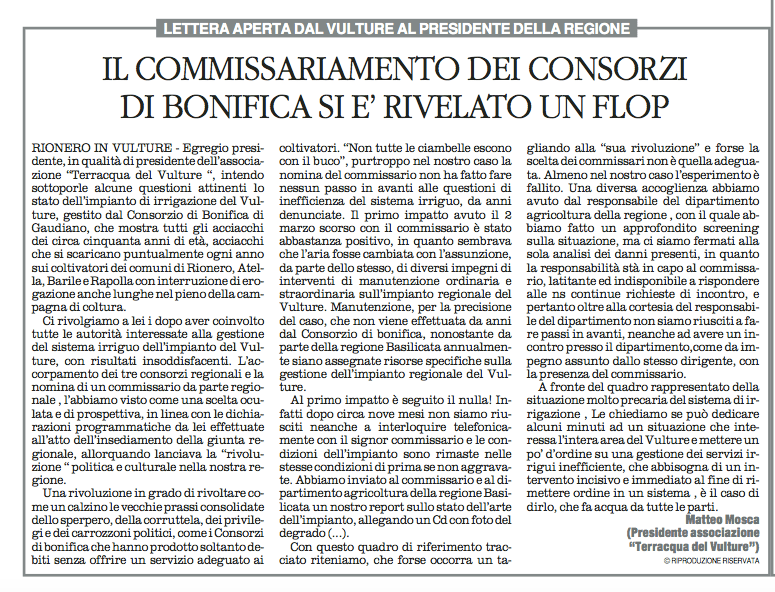 Consorzi quotidiano 17 11 2015