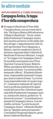 Coldiretti gazzetta 23 02 2016