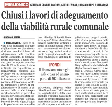 viabilità rurale gazzetta 24 02 2016