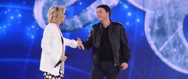 Matteo Renzi ospite di Amici di Maria De Filippi