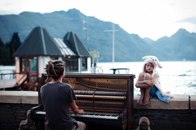 Piano Play at Sunset