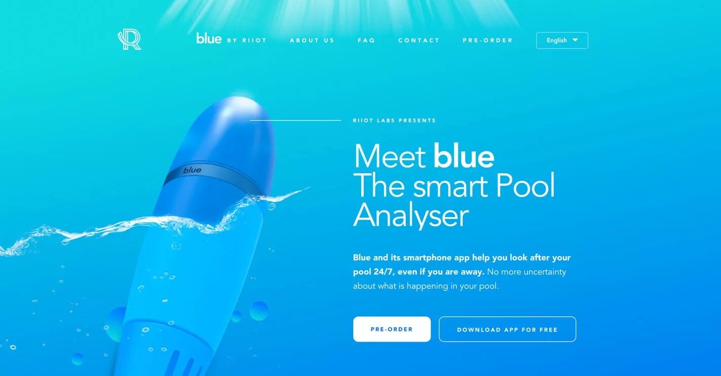 Sito web blu