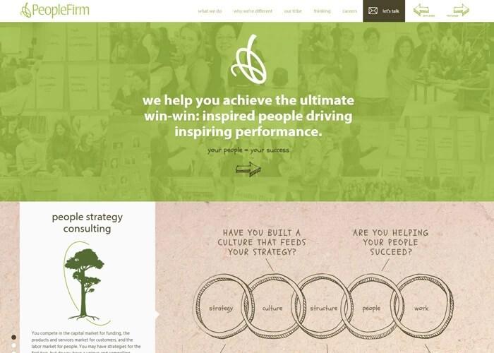 Uso del verde nel sito web
