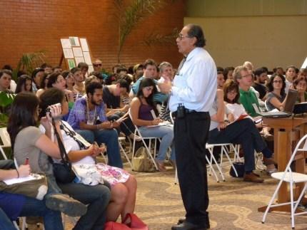 Mohamed Habib (IB/Unicamp) speaking, during the opening debate. Credit: Edemilson de França.