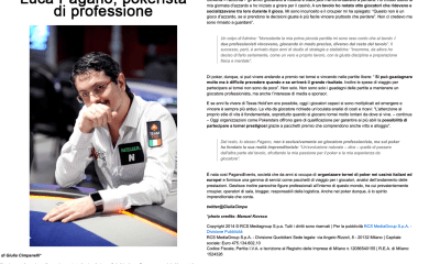 Pokerista di professione – Corriere.it, 2014
