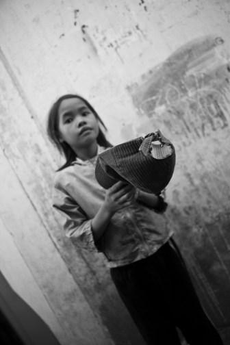 Begging in front of the GoVap Orphanage. Saigon. Vietnam. 2007