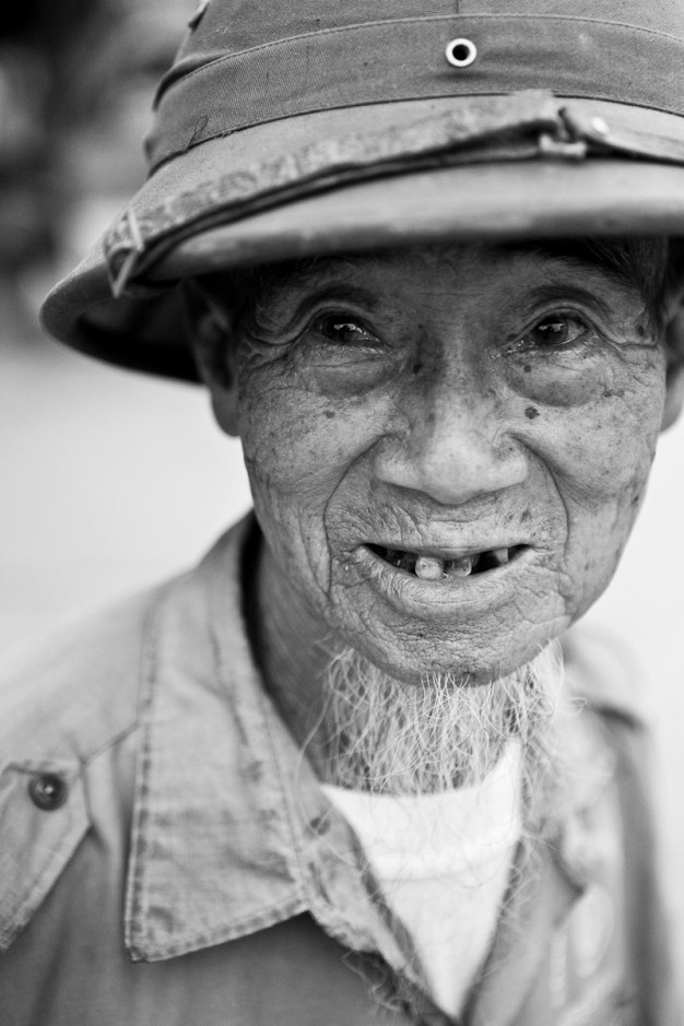 An old man found in a market near Hanoi. Vietnam. 2007