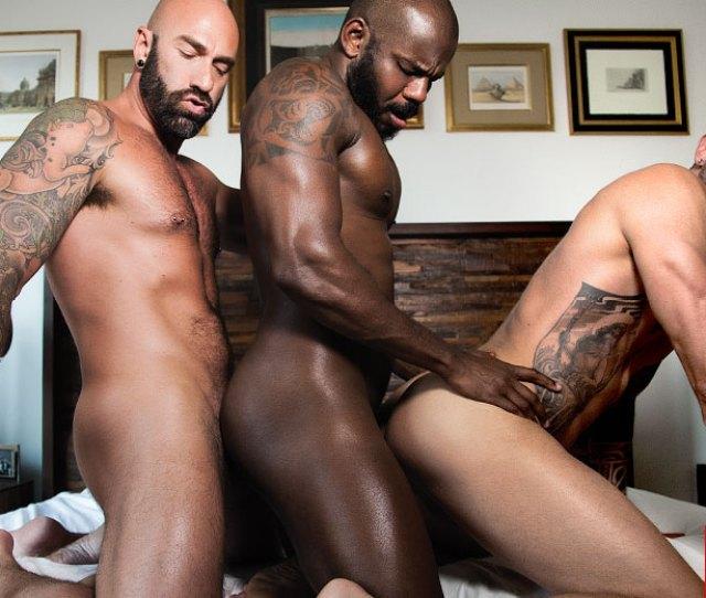 Rod Beckmann Drew Sebastian Dolf Dietrich Interracial Bareback Threesome