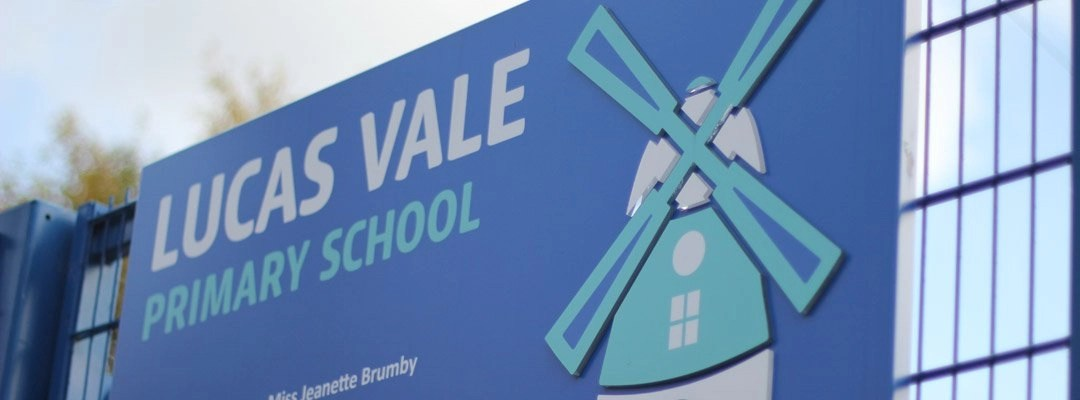 Signage at Lucas Vale Primary School