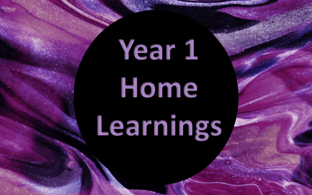 Year 1 Home Learning (2)