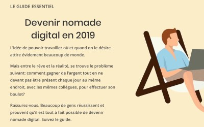 Devenir nomade digital en 2019 (le guide essentiel)