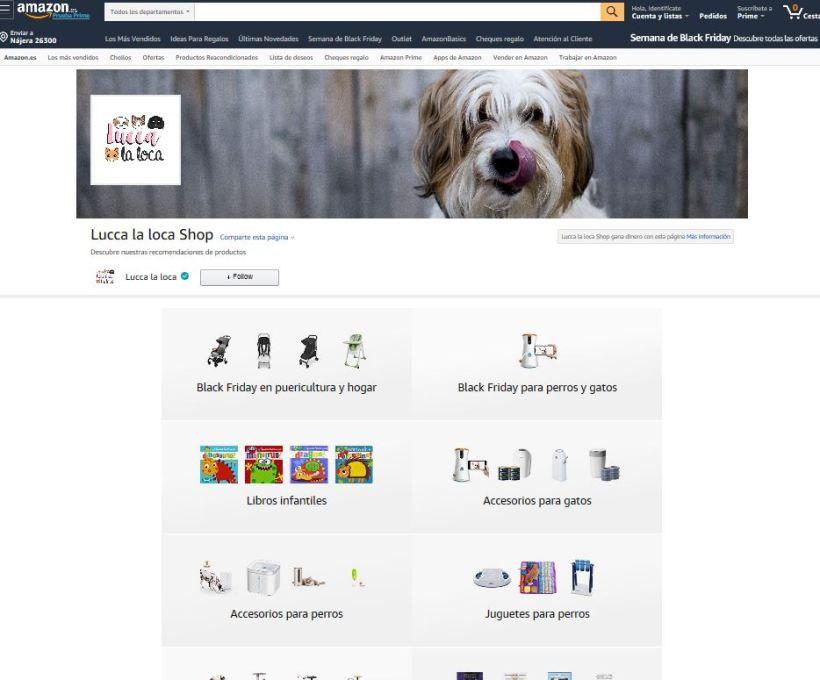 página amazon Lucca