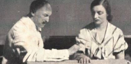 Giuseppe Calligaris che tratta una sua paziente