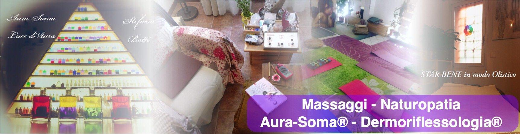 massaggi, dermoriflessologia, aura-soma, naturopatia