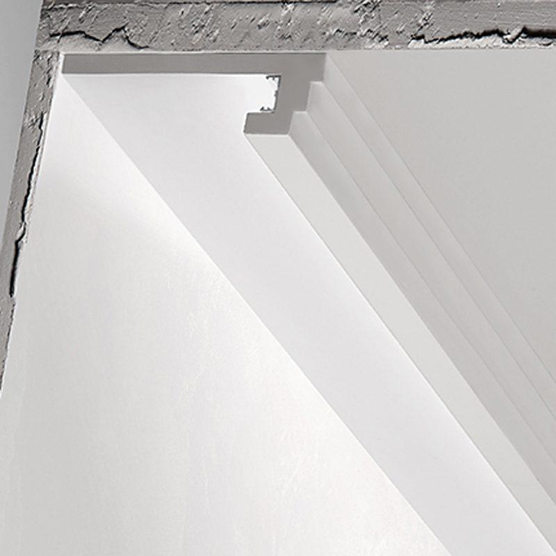 Qualità delle cornici di gesso. 3 Metri Cornice Per Led In Gesso Illuminazione Indiretta Per Soffitto Ds5013 Luceled