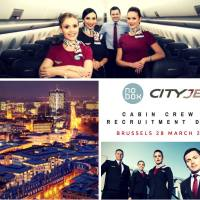 Cityjet is holding a recruitment day for senior cabin crew members in Brussels on 28th March 2017