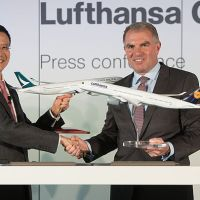 Cathay Pacific Airways (oneworld) and Lufthansa Group (Star Alliance) agree cooperation