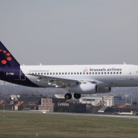 Cityjet Sukhoi Superjet 100-95 (in Brussels Airlines colours) just landed at Brussels Airport