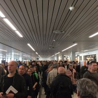 Long queues and chaos at Amsterdam Schiphol Airport