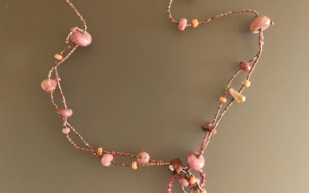 Gorgeous Raw Ruby Collar