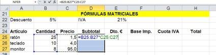 Composición de un cálculo matricial