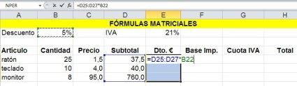 Ejemplo de cálculo de vector por constante