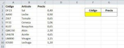 Ejemplo para busqueda exacta en Excel