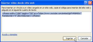 Insertar video desde sitio web en PowerPoint