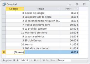Consulta SQL de selección ordenada