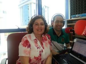Con Manuel Miranda en Café Digital
