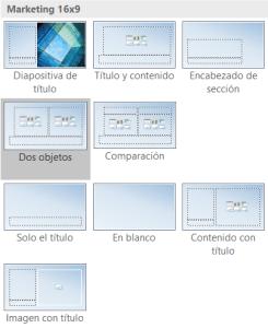 Plantillas o modelos de diseño para PowerPoint