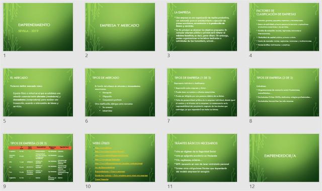 Presentación con secciones en PowerPoint