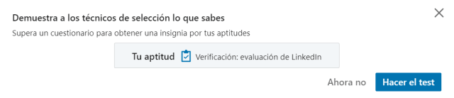 Test para demostrar tus aptitudes en LinkedIn
