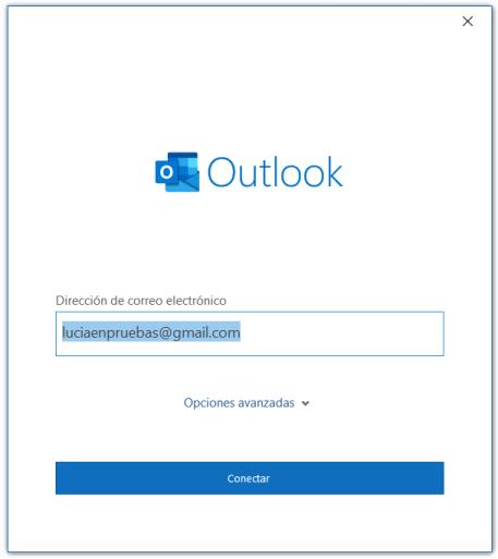 Primer paso para el alta de una cuenta de correo en Outlook 365