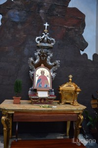 dettaglio altarino della Chiesa della Badia di Sant'Agata, durante i festeggiamenti per Sant'Agata 2019 - Catania (CT)
