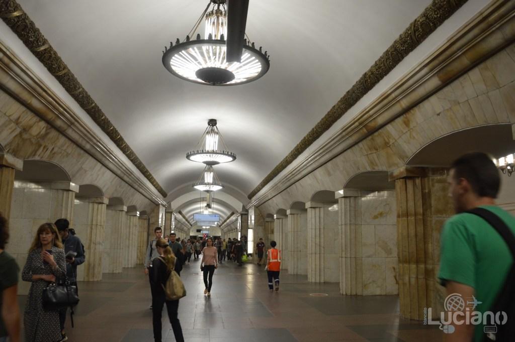 Kurskaya (in russo: Курская) - Metro 5 - Metro Circolare Mosca - Russia