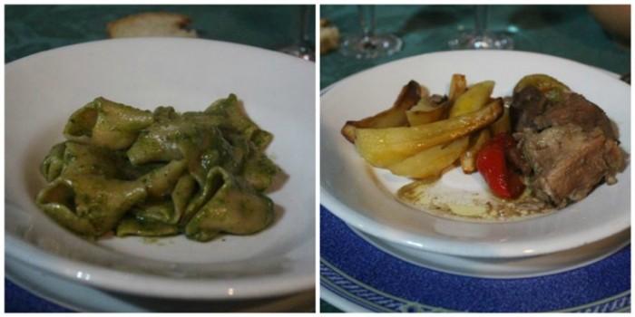 Le Campestre, pasta Malconciati e stracotto di maialino con papaccelle e patate