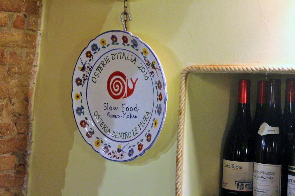 Osteria Dentro le Mura Osteria Slow Food chiocciola 2016