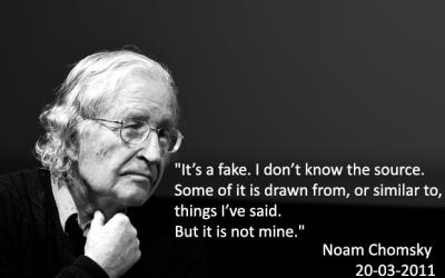 La bufala del Decalogo di Noam Chomsky