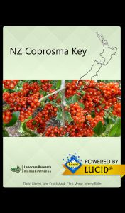 NZ Coprosma key splash screen