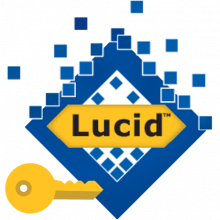 Lucid logo with key icon