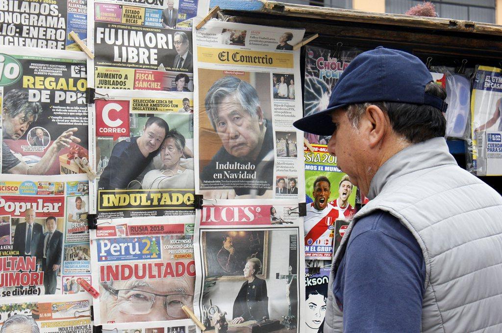 Rechazo y dudas en Perú por indulto a Fujimori