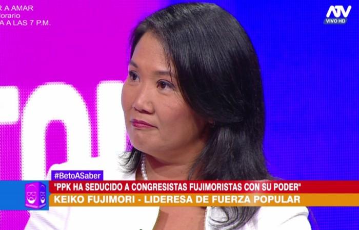 Keiko Fujimori sobre detención de Yoshiyama: