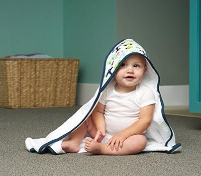 JJ Cole Hooded Bath Towel on Baby